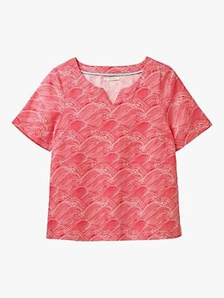 White Stuff Peony Linen Top, Rose Red