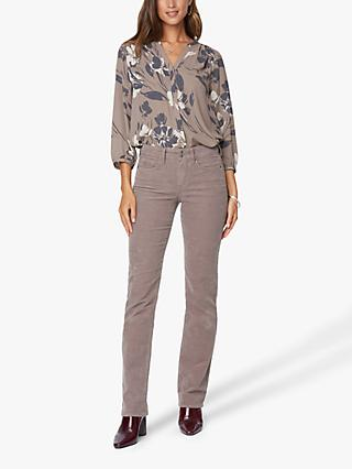 NYDJ Marilyn Straight Leg Cord Jeans, Taupe