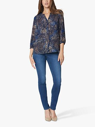 NYDJ Abstract Pintuck Blouse, Goleta Grove