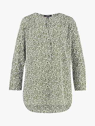NYDJ The Perfect Abstract Blouse, Green