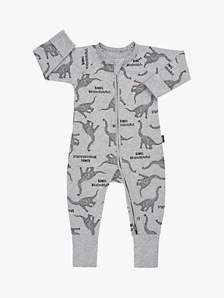 Bonds Baby Brachiosaurus Dinosaur Print Wondersuit, Grey