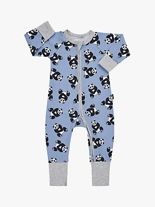 Bonds Baby Pablo Panda Print Wondersuit, Blue