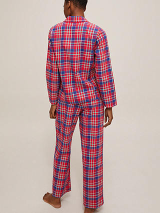 Buy John Lewis & Partners Check Cotton Family Pyjamas, Red, 8 Online at johnlewis.com