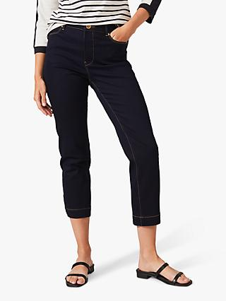 Phase Eight Ramona Straight Cropped Jeans, Indigo