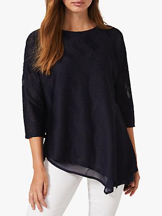 Phase Eight Maisha Asymmetric Top, Navy