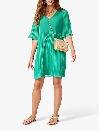 Phase Eight Ella Pleat Dress, Green