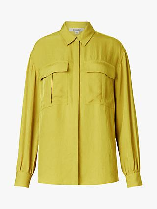 AllSaints Esme Long Sleeved Patch Pocket Blouse
