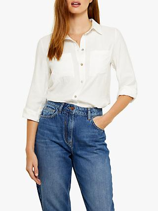 Sosandar Double Pocket Detail Shirt, Ivory