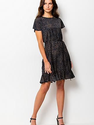 Sosandar Polka Dot Summer Dress, Black