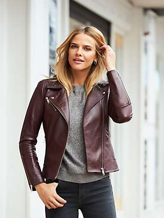 Sosandar Leather Biker Jacket