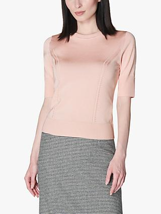 L.K.Bennett Val Knitted Top, Pink