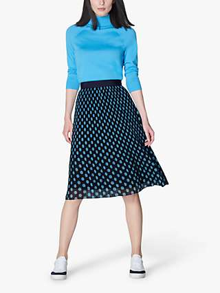 L.K.Bennett Brooks Skirt, Midnight/China Blue