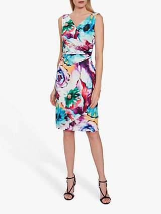 Gina Bacconi Islette Floral Scuba Dress, Multi
