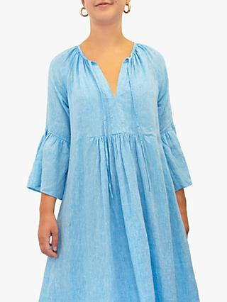 NRBY Elizabeth Linen Maxi Dress, Turquoise