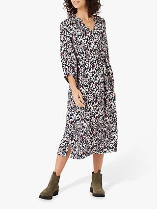 Brora Dapple Print Dress, Lead/Rose