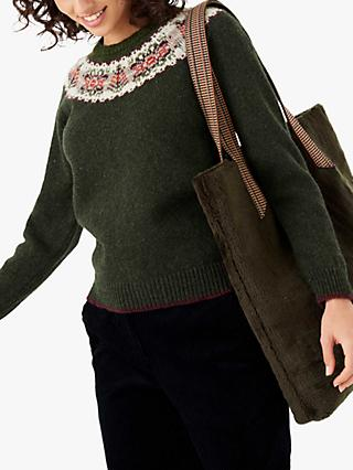 Brora Fair Isle Yoke Wool Jumper, Sorrel