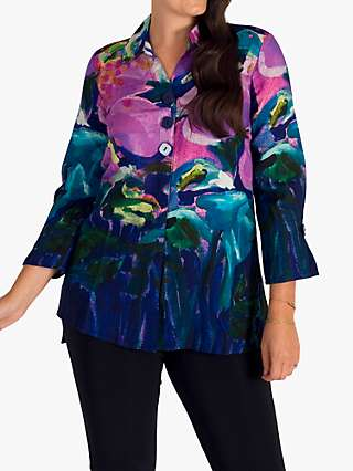 Chesca Floral Printed Blouse, Purple