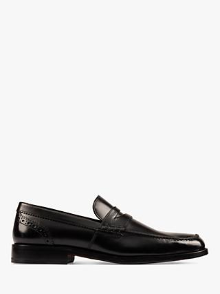 Clarks James Free Leather Loafers