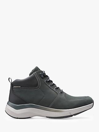 Clarks Wave 2.0 Waterproof High Top Trainers, Sage