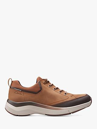 Clarks Wave 2.0 Vibe Waterproof Trainers, Tan