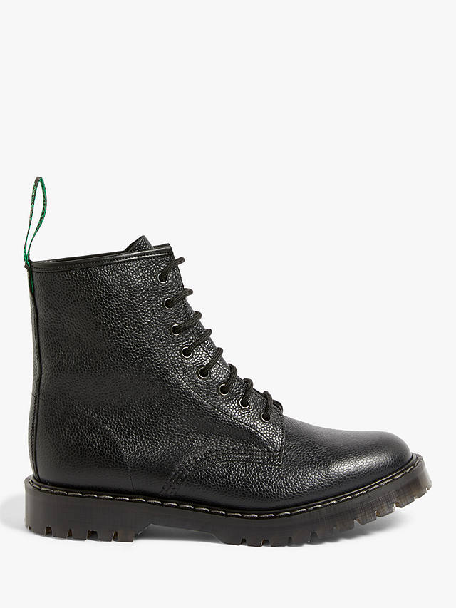 Buy JLP x Solovair Leather 8 Eyelet Derby Boots, Black, 11 Online at johnlewis.com