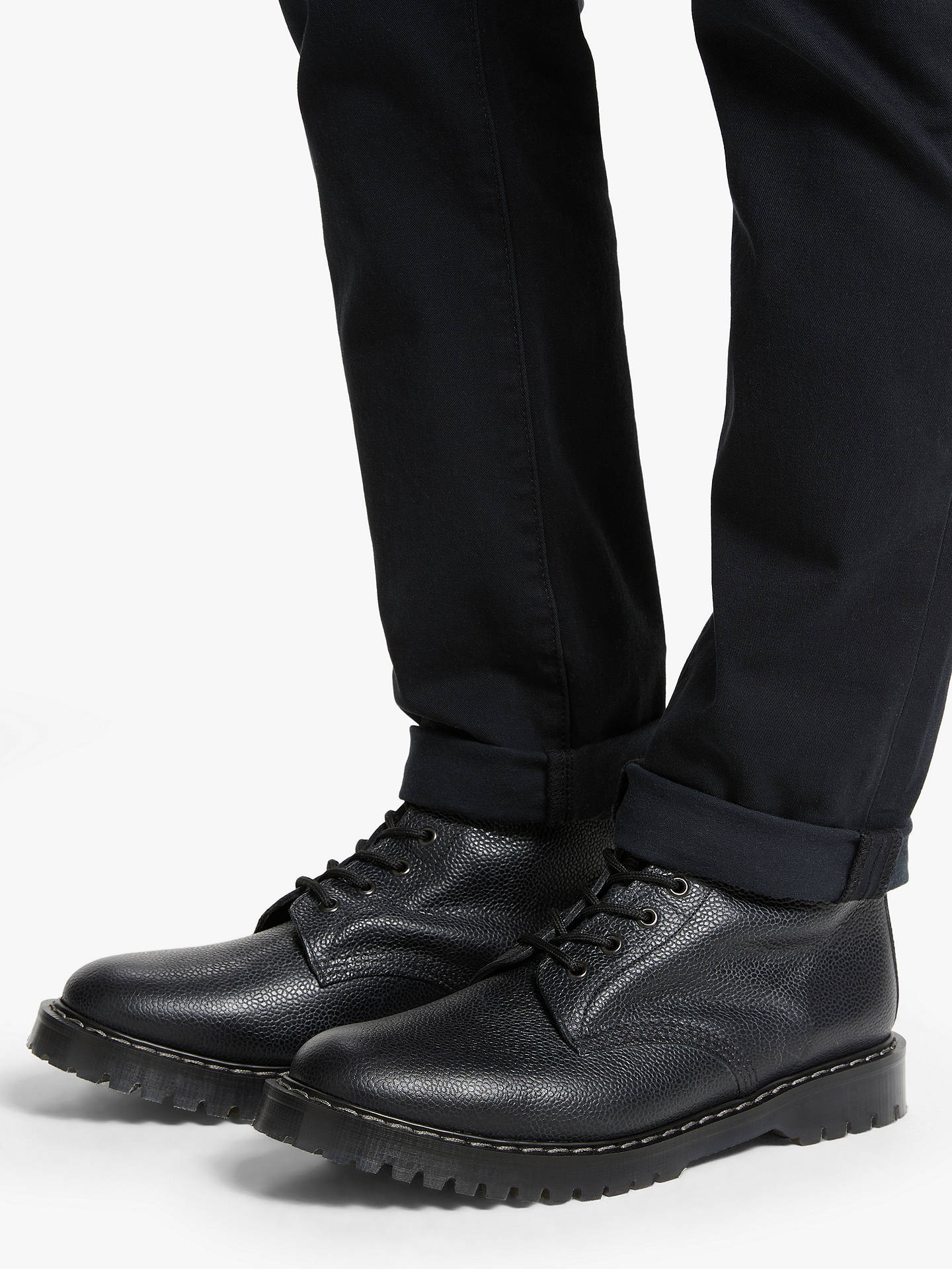 Buy JLP x Solovair Leather 8 Eyelet Derby Boots, Black, 7 Online at johnlewis.com