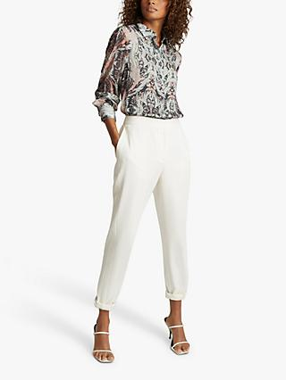 Reiss Emmy Paisley Printed Shirt, Grey