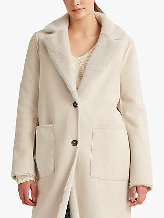 Lauren Ralph Lauren Reversible Faux Fur Coat, Natural