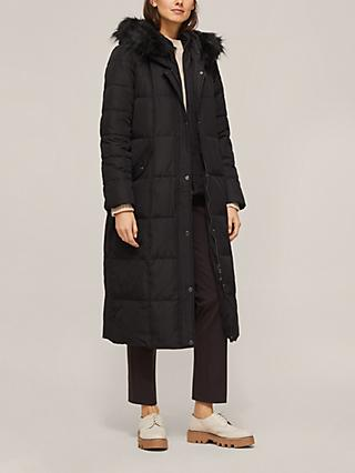 Lauren Ralph Lauren Quilted Down Fill Hooded Coat, Black