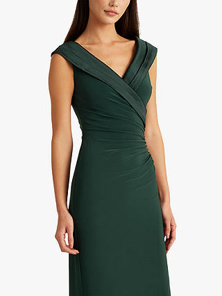 Buy Lauren Ralph Lauren Leonetta Evening Dress, Green, 16 Online at johnlewis.com