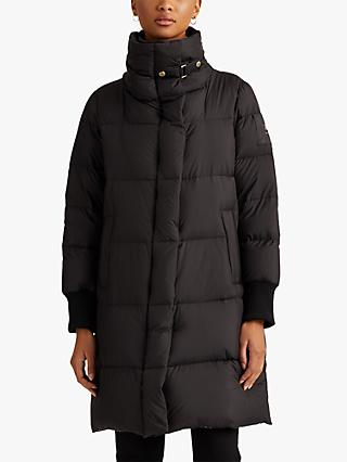 Lauren Ralph Lauren Quilted High Neck Coat, Black