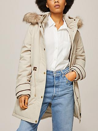 Lauren Ralph Lauren HD Hooded Parka Coat, Cream