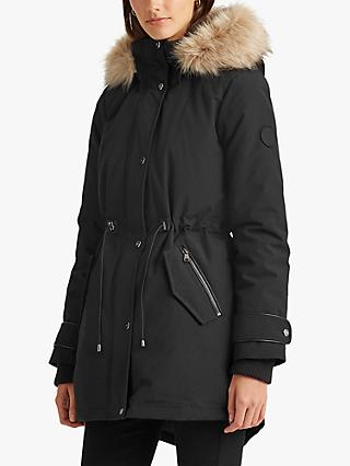 Lauren Ralph Lauren Hooded Parka Coat, Black