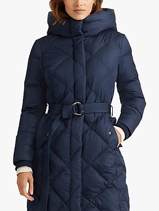 Lauren Ralph Lauren Diamond Quilt Belted Coat