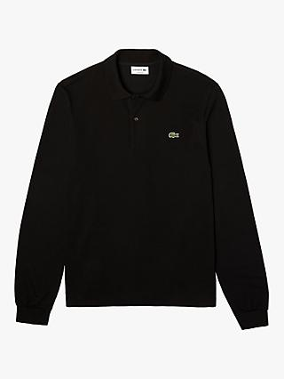 Lacoste L.13.12 Classic Regular Fit Long Sleeve Polo Shirt, Black