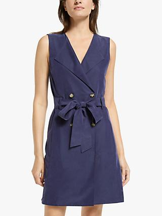 Club Monaco Belted Wrap Mini Dress, Navy
