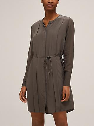 Club Monaco Sheer Play Silk Shirt Dress