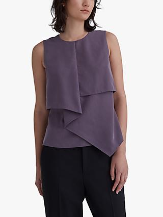 Club Monaco Sleeveless Panel Top, Purple