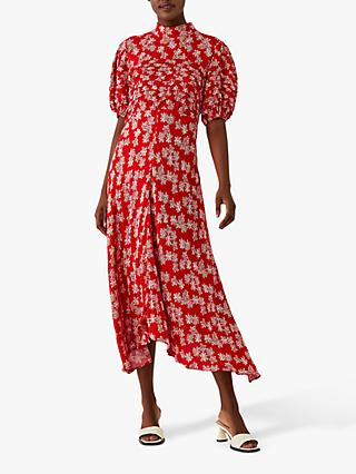 Ghost Jenna Floral Maxi Dress, Red