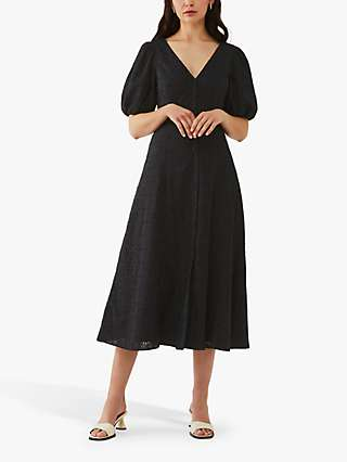 Ghost Zahara Midi Dress, Black