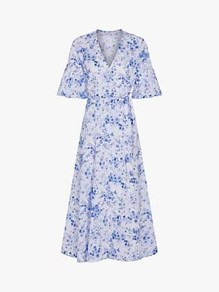 Ghost Fayre Floral Wrap Midi Dress, Prairie Rose