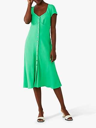 Ghost Leona Midi Dress, Green
