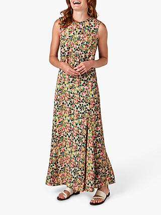 Jigsaw Rainbow Ditsy Floral Print Maxi Dress, Multi