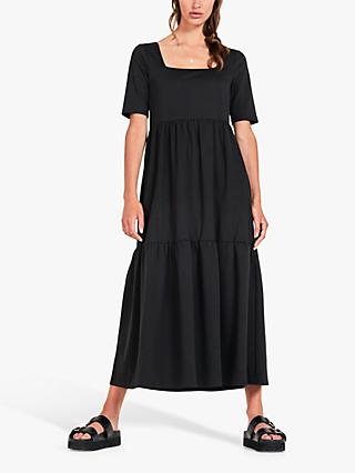 hush Orla Midi Dress, Black