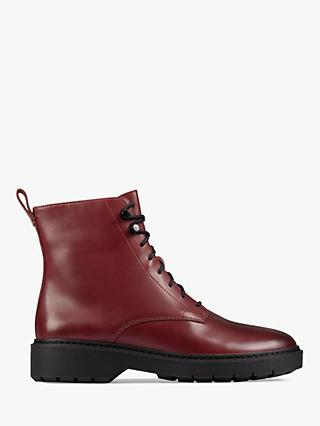 Clarks Witcombe Leather Lace Up Ankle Boots