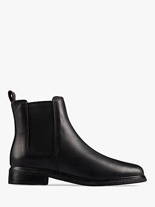Clarks Clarkdale Leather Chelsea Boots, Black