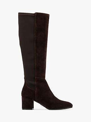 Clarks Sheer Block Heel Suede Knee Boots