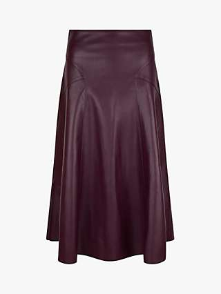 Monsoon Zip Midi Skirt, Purple