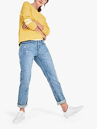 hush Boyfriend Straight Fit Jeans, Blue