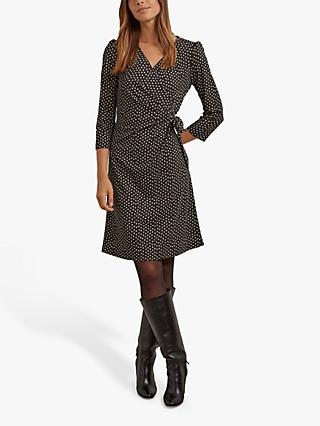 Gerard Darel Tidla Graphic Print Wrap Dress, Black
